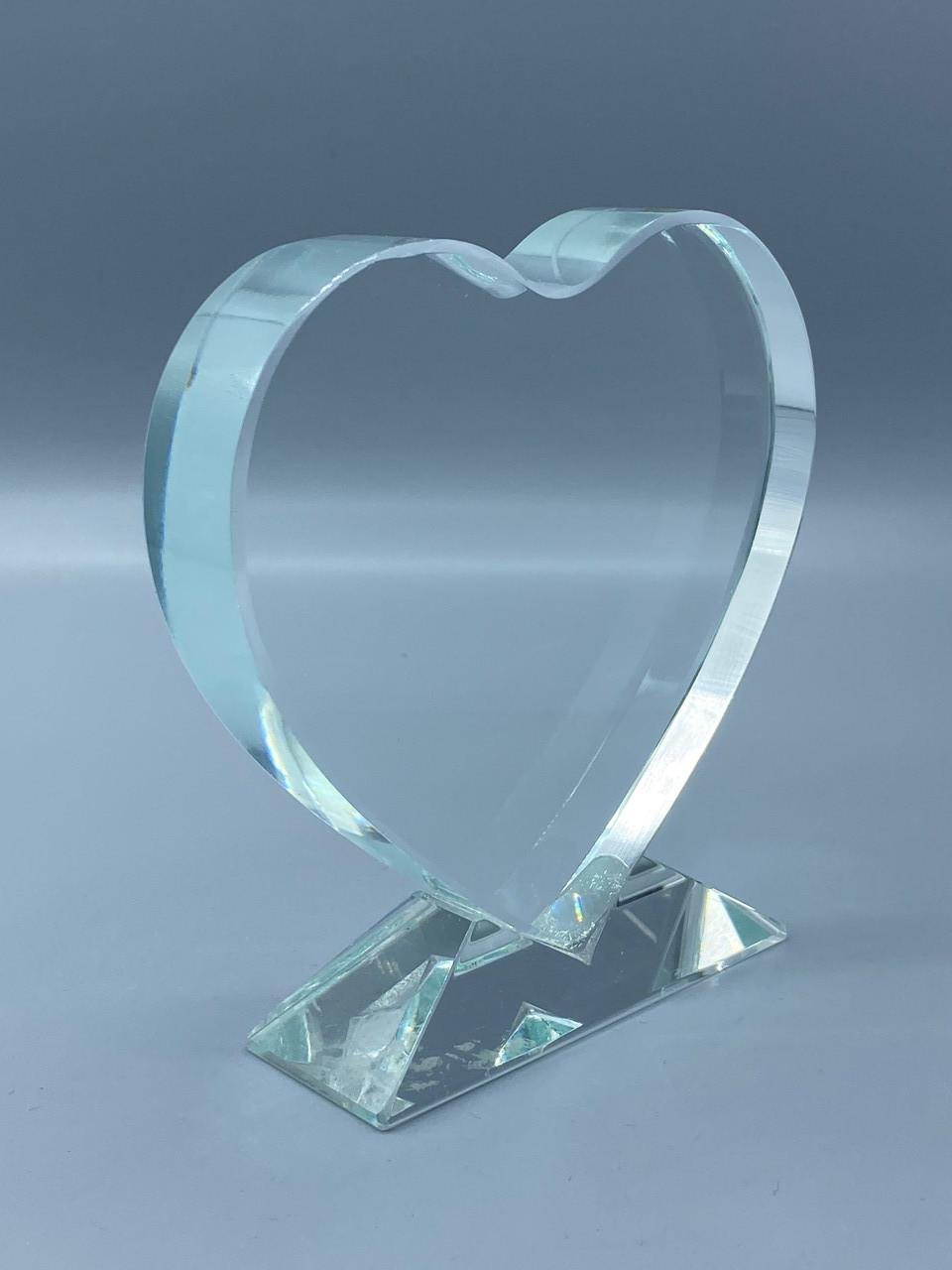 """Награда стеклянная """"сердце"""", размер - 100х100мм"""