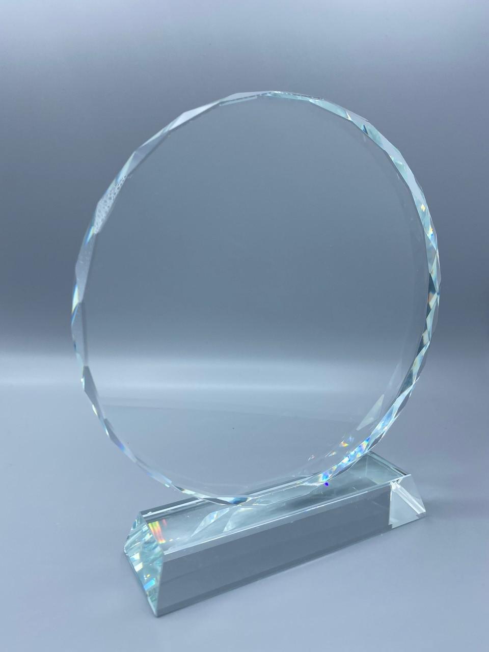 """Награда из стекла """"подсолнух средний"""" (115*115*15мм)"""