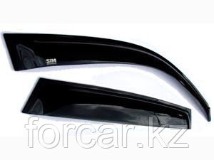 Дефлекторы боковых окон Nissan X-Trail (Ниссан Икстрейл) c 2014 по н. вр. (4дв) (темный), фото 2