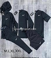 Рашгард (компрессионное белье) Nike 5в1, черный