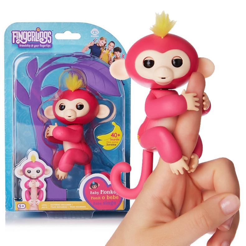 Помятая упаковка!!! Fingerlings интерактивная обезьяна (под оригинал, требует замены батареек) 15*22