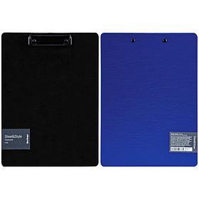 "Планшет с зажимом Berlingo ""Steel&Style"" A4, пластик (полифом), синий"