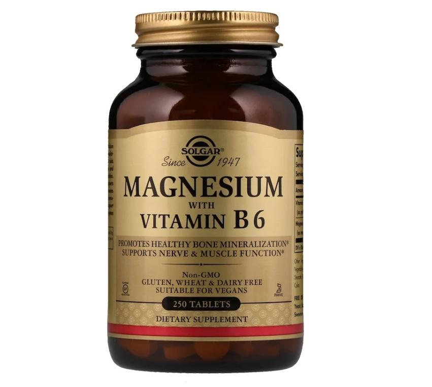 Solgar, Магний с витамином В6, 250 таблеток