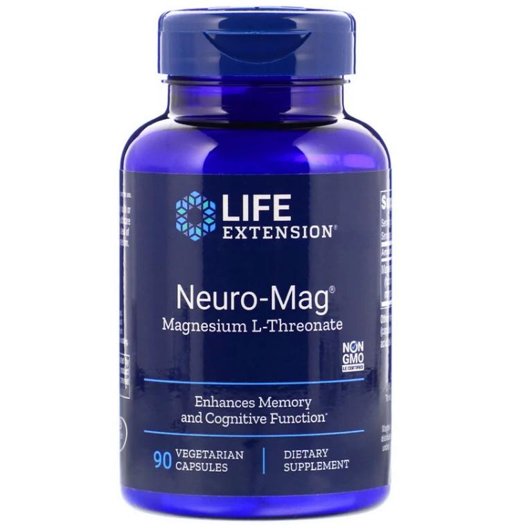 Life Extension, Neuro-Mag, магний L-треонат, 90 капсул в растительной оболочке