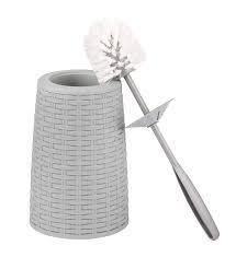 Ерш туалетный с подставкой Плетенка серый М7622