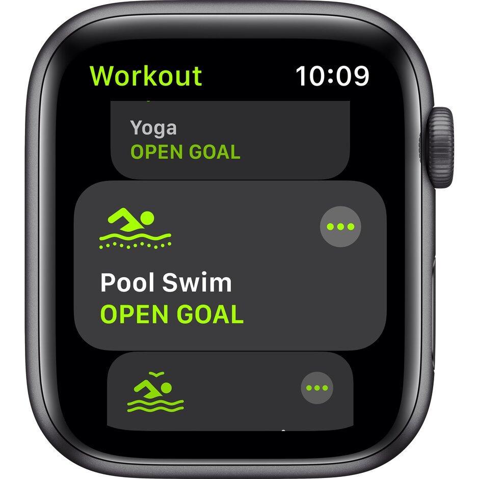 Смарт-часы Apple Watch SE 44mm Gold, Silver, Black Sport Band Черный, Серебристый, золотой - фото 5