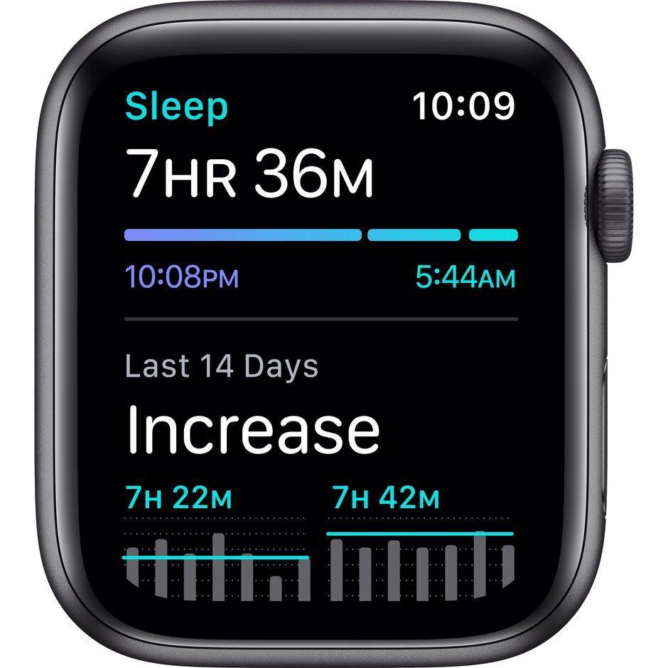 Смарт-часы Apple Watch SE 44mm Gold, Silver, Black Sport Band Черный, Серебристый, золотой - фото 3