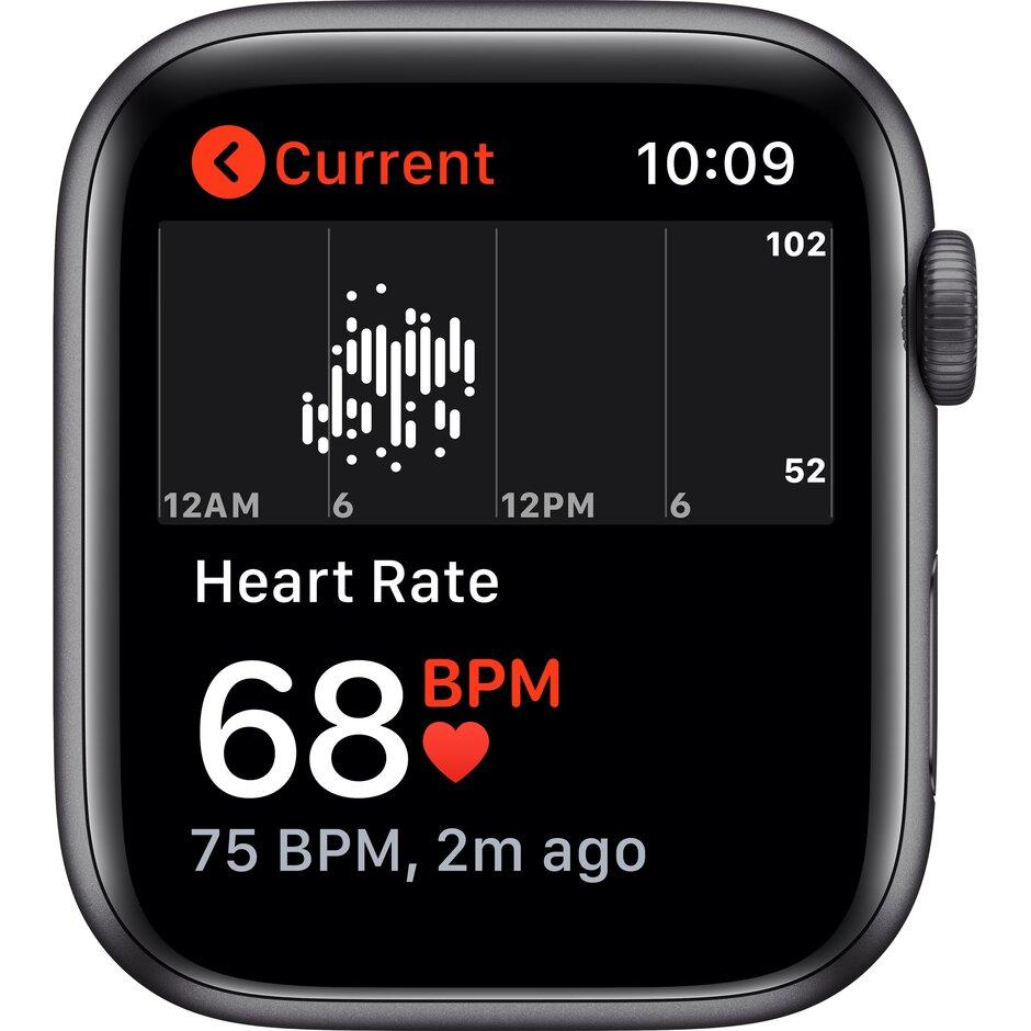 Смарт-часы Apple Watch SE 44mm Gold, Silver, Black Sport Band Черный, Серебристый, золотой - фото 4