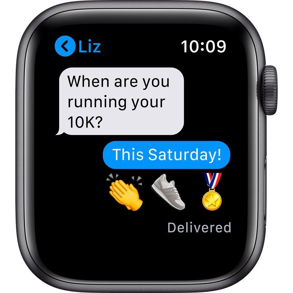 Смарт-часы Apple Watch Series 6 40mm Space Gray, Gold, Silver черный, розовый, серебристый, белый - фото 7