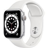 Смарт-часы Apple Watch Series 6 40mm Space Gray, Gold, Silver черный, розовый, серебристый, белый Серебристый