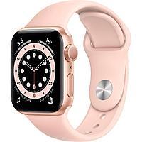 Смарт-часы Apple Watch Series 6 40mm Space Gray, Gold, Silver черный, розовый, серебристый, белый Золотой