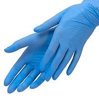 Перчатки L 100шт нитрил голубые MediOk