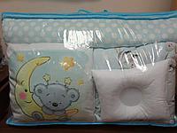 Детское постельное белье 17 предметов Мишка на луне