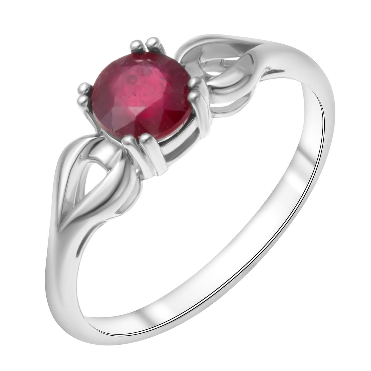 Кольцо из серебра с натуральным рубином