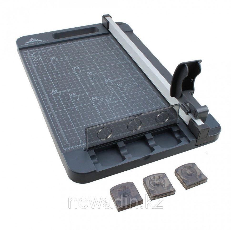 Резак роликовый JIELISI 959-3 (А4) (6л/70гр/320mm) 3 лезвия (Ровный срез, Волна, Пунктир)