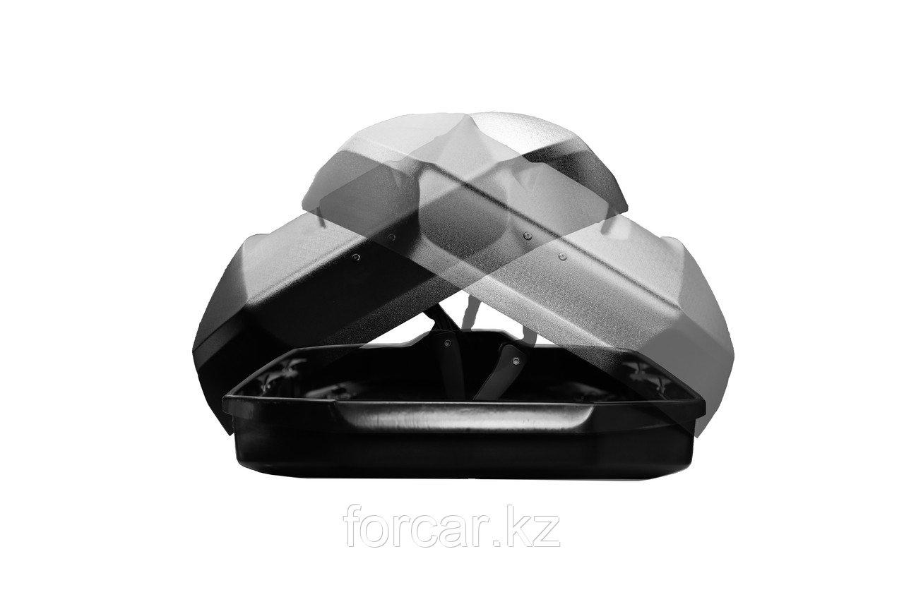 Бокс LUX TAVR 175 серый глянцевый 450L (1750х850х400) с двусторонним открыванием - фото 2