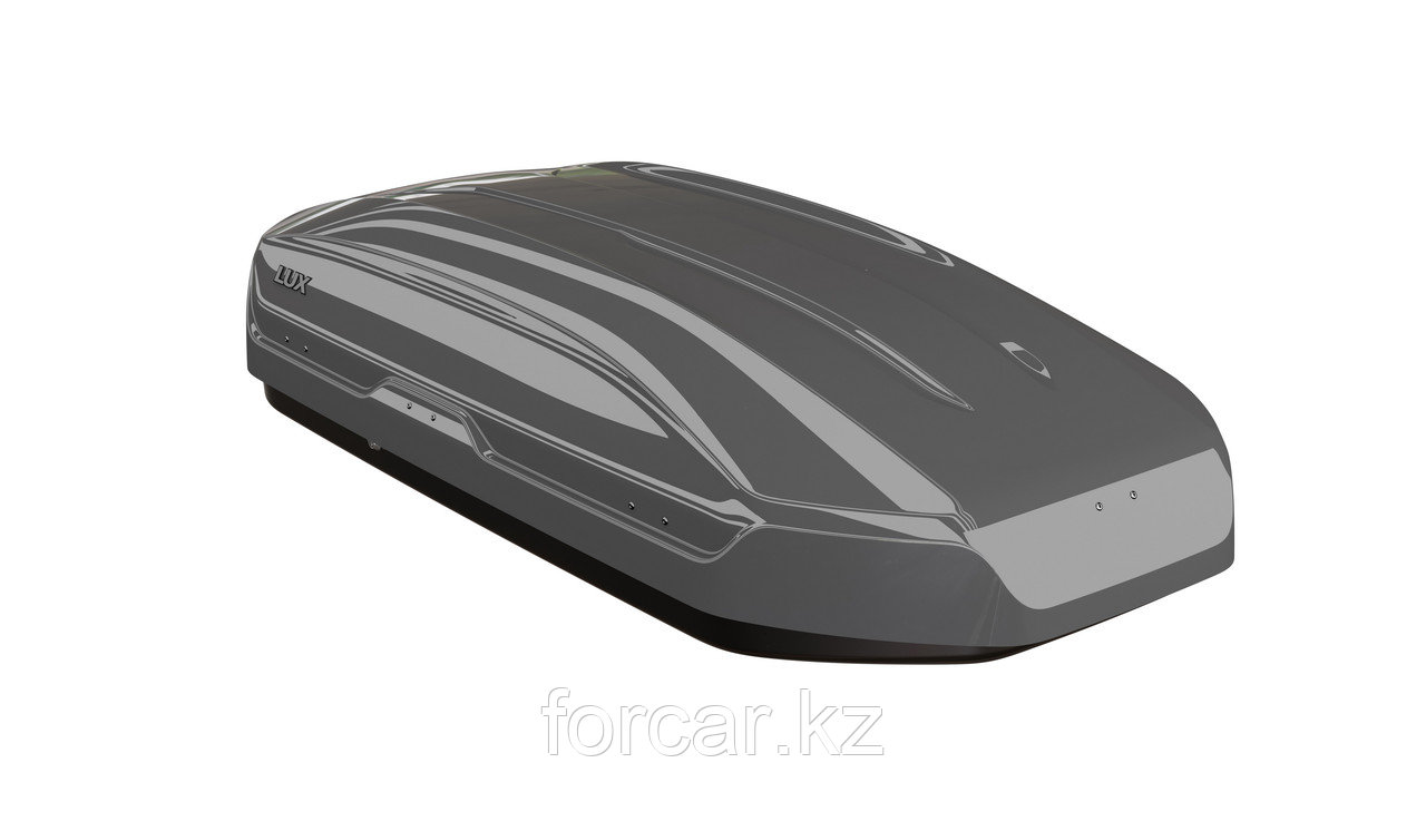 Бокс LUX TAVR 175 серый глянцевый 450L (1750х850х400) с двусторонним открыванием - фото 1