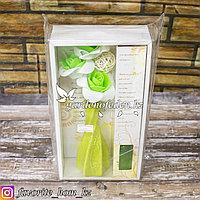 Набор 3 в 1. Аромалампа, масло, декор. Материал: Керамика. Цвет: Зеленый.