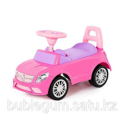 """Каталка-автомобиль """"SuperCar"""" №3 со звуковым сигналом (розовая)"""