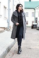 Женское осеннее драповое серое пальто IUKONA 7000 темно-серый 44р.
