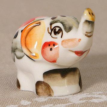 """Сувенир керамика """"Слоник маленький"""" цветной 2,5х4,5 см"""