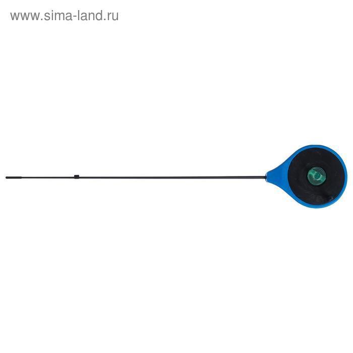 Удочка зимняя Helios RBUZ, хлыст стеклопластик, цвет синий - фото 1