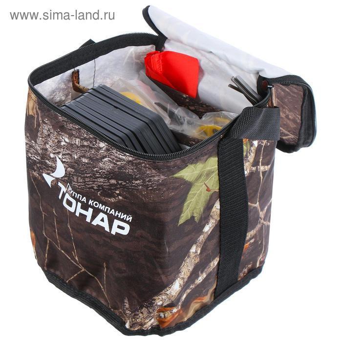 Набор жерлиц в сумке «Тонар» ЖЗО-04 d=185 мм, катушка d=63 мм, набор 10 шт. - фото 4