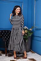 Женское осеннее трикотажное серое платье Anastasia 314 серый 50р.