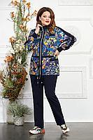 Женский осенний трикотажный спортивный большого размера спортивный костюм Mira Fashion 2765-8 тройка_спорт