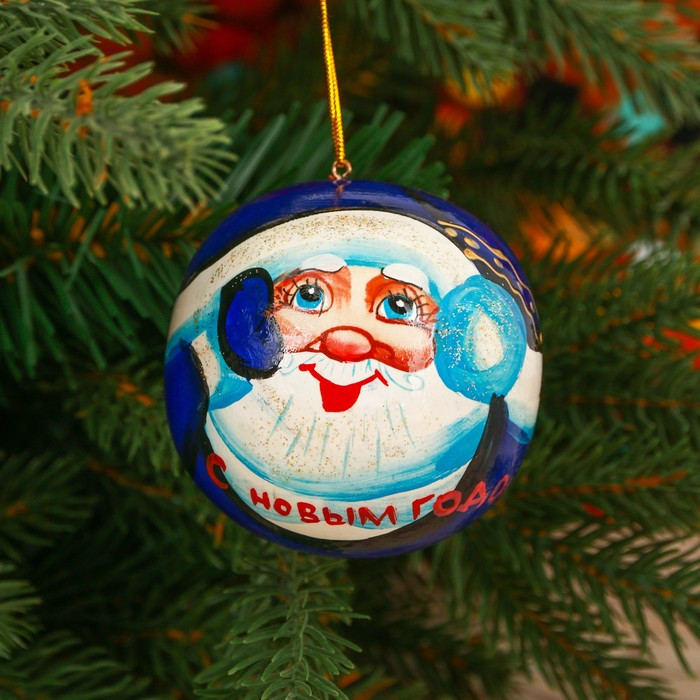 Шар расписной «Дед Мороз»