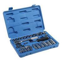 Набор инструментов в кейсе TUNDRA, автомобильный, CrV, 1/4' и 3/8', 44 предмета