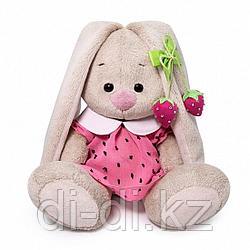 Зайка Ми в розовом платье с клубничкой (малыш) 15 см