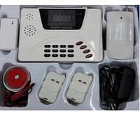 """Cигнализация GSM """"Security Alarm System"""" датчик движения , проникновения , сирена 10 зон защиты"""