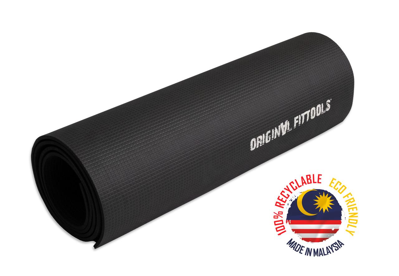 Коврик для йоги 1800х600 5,5 мм черный - фото 1