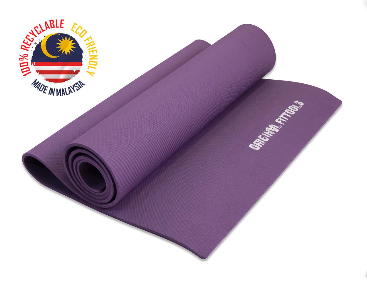 Коврик для йоги 1900х600 6 мм фиолетовый