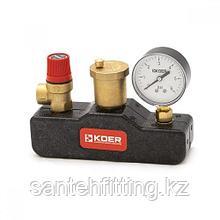 Группа безопасности для котла и систем отопления KOER в термоизоляционном кожухе