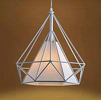 Люстра белая в форме бриллианта в стиле Loft