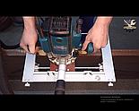 Шаблон УФК Профи для врезки петель и замков в межкомнатные двери. Быстрый монтаж, фото 7