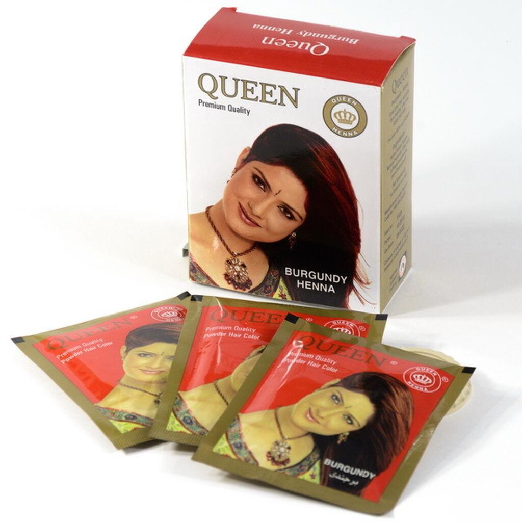 Краска на основе натуральной хны, бургунд 10 гр, Queen