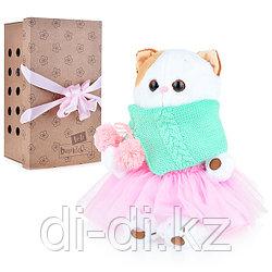 Мягкая игрушка Budi Basa Кошка Ли-Ли в юбке со снудом 27 см