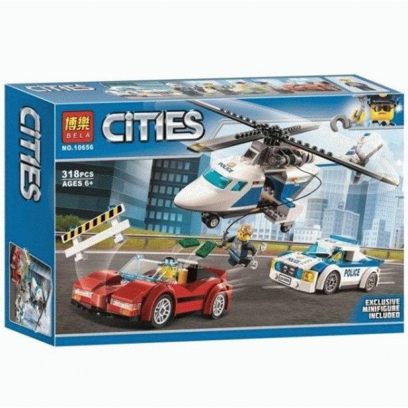 Конструктор BELA Cities Стремительная погоня 10656 (Аналог LEGO City 60138) 318 дет - фото 1