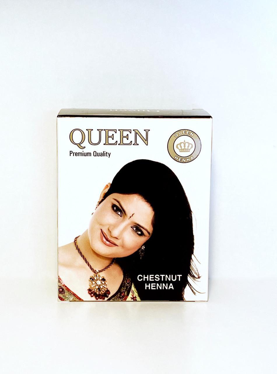 Краска на основе натуральной хны,каштан 10 гр, Queen