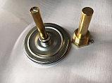 Термометр биметаллический, с погружной гильзой 50мм 1/2, фото 2