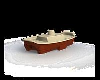 Песочница - бассейн с крышкой Doloni корабль коричневый/бежевый