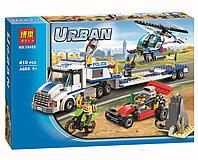 Конструктор Bela City Перевозчик вертолета 10422 (Аналог Lego City 60049)