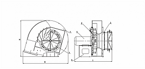 Вентилятор ВД-2,7/1500