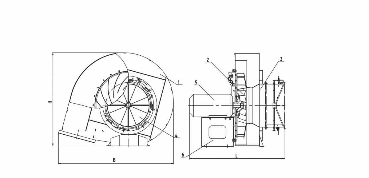 Вентилятор ВД-2,7/3000
