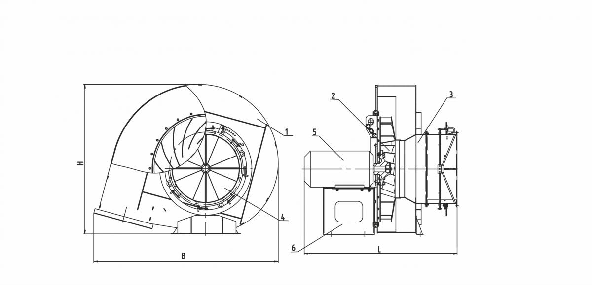 Вентилятор ВДН-9/1500
