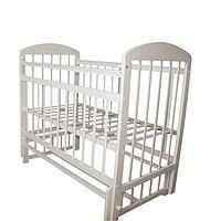 Кровать детская МОЙ МАЛЫШ 09 маятник универсальный с накладкой Белый