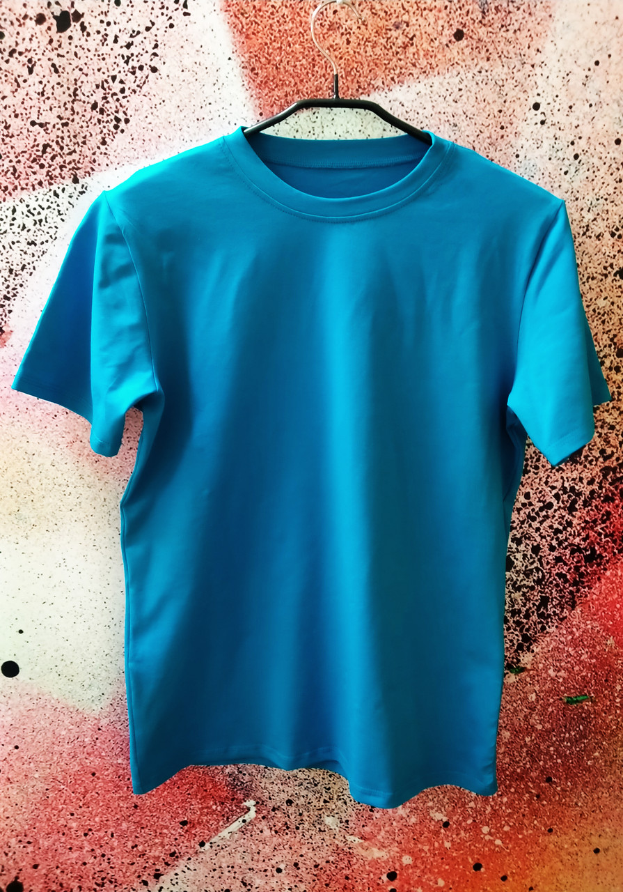 """Футболка Х/Б """"Unisex"""", ткань Турция, цвет: Бирюза, р-р 50(L)"""